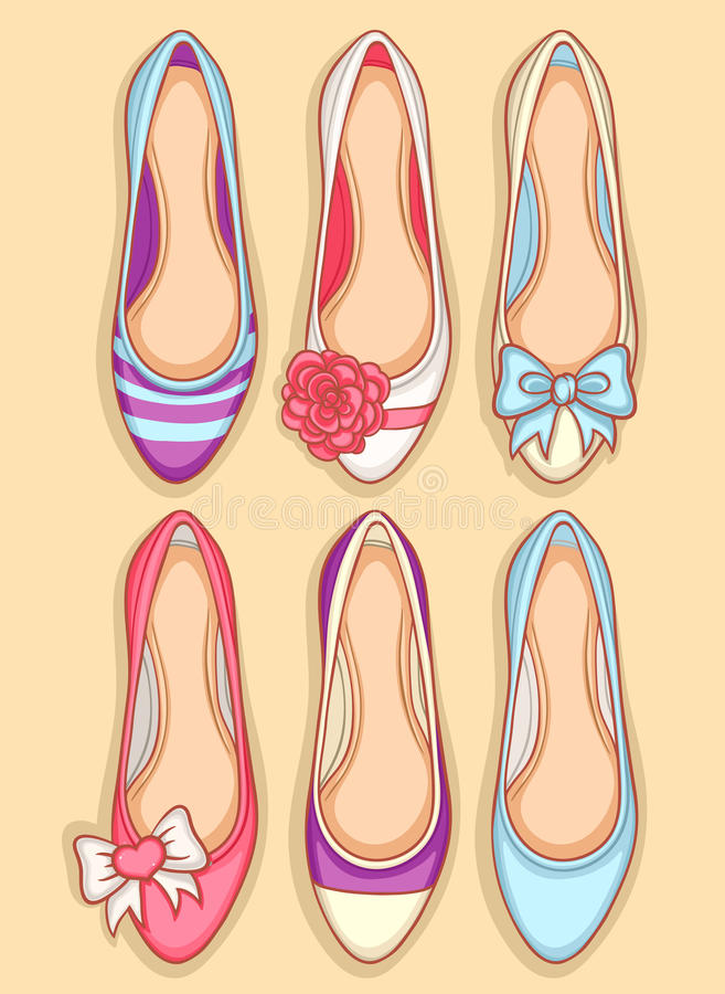 Sapatas das mulheres ilustração royalty free