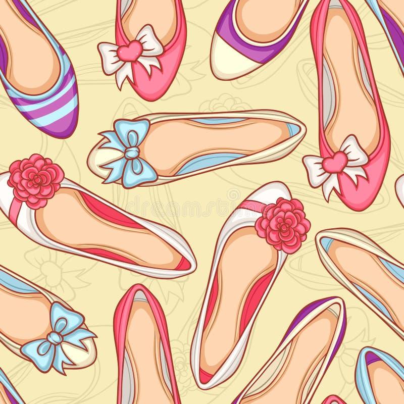 Sapatas das mulheres ajustadas ilustração stock