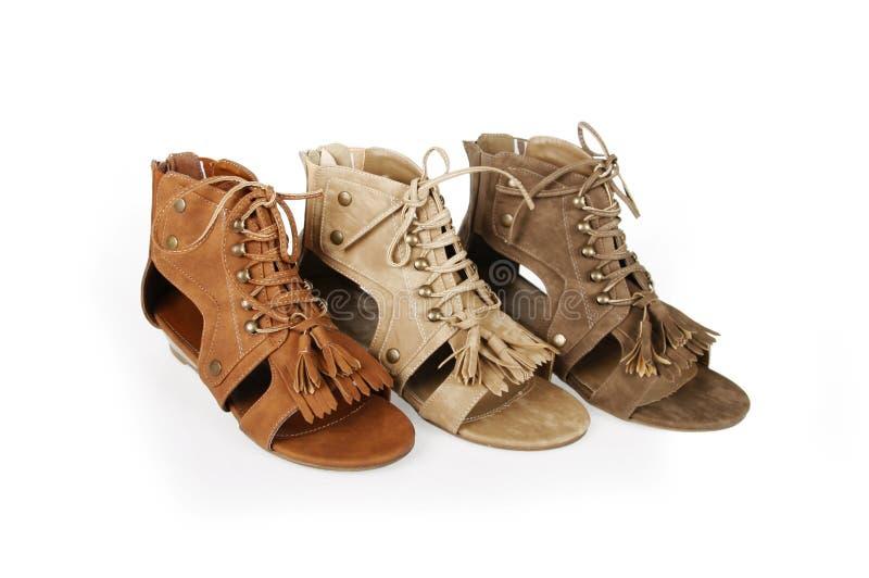 Sapatas das sandálias do gladiador foto de stock