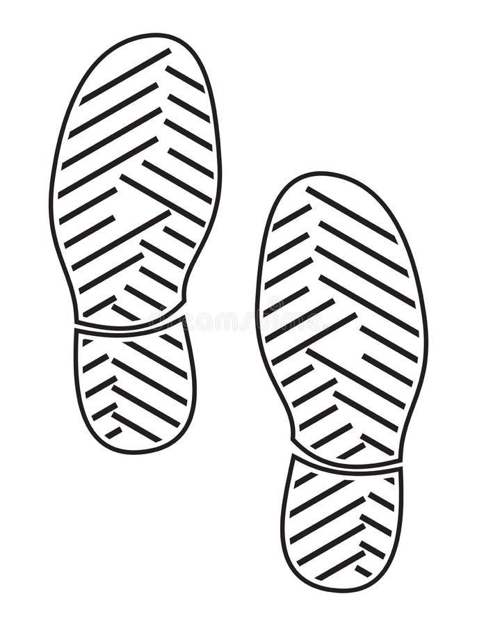 Sapatas das solas da impressão - sapatilhas ilustração royalty free