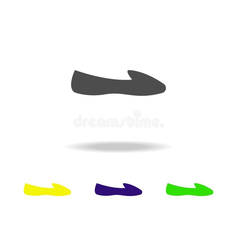 sapatas de bailado, ícones coloridos da forma Pode ser usado para a Web, logotipo, app móvel, UI, UX ilustração stock
