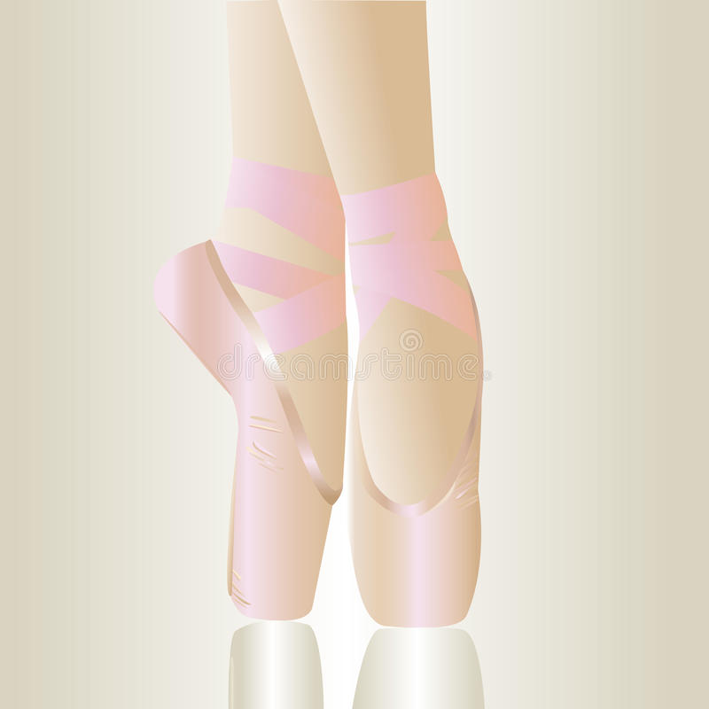 Sapatas de bailado cor-de-rosa ilustração stock
