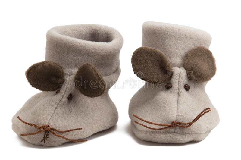 Sapatas de bebê do rato foto de stock