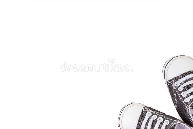 Sapatas de beb? no fundo branco imagem de stock royalty free