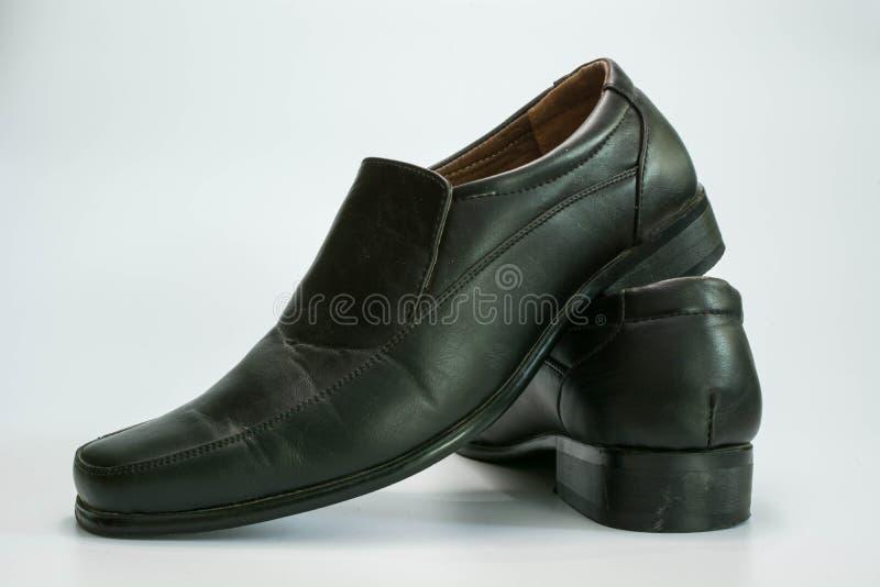 Sapatas de couro pretas imagem de stock royalty free