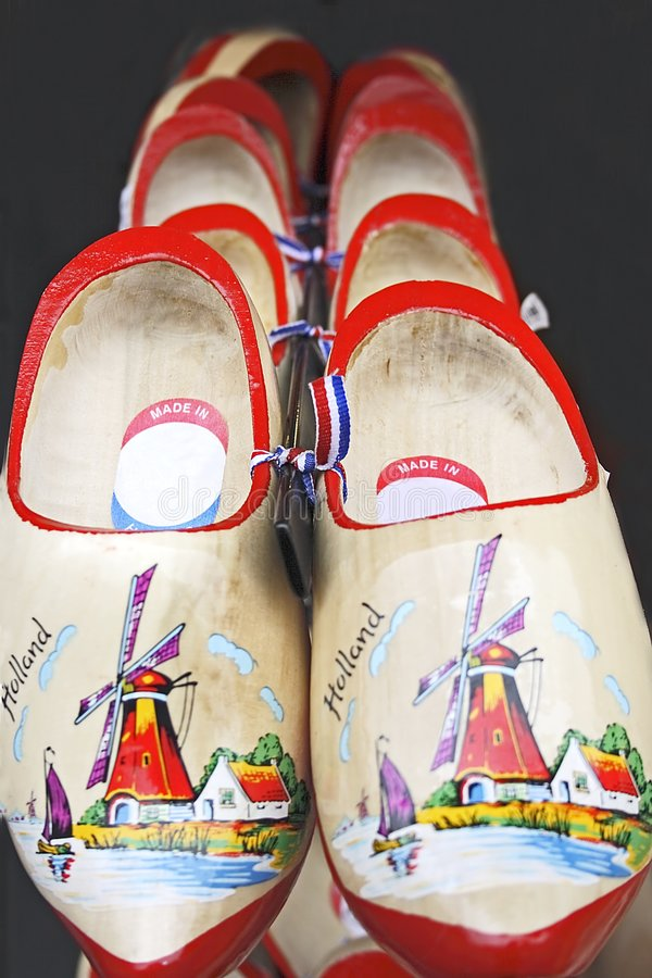 Sapatas de madeira de Amsterdão imagens de stock royalty free