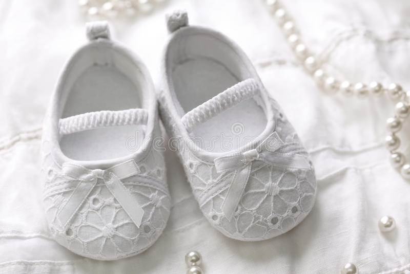 Sapatas do bebé imagem de stock