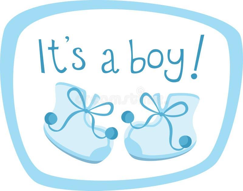 Sapatas do bebé ilustração stock