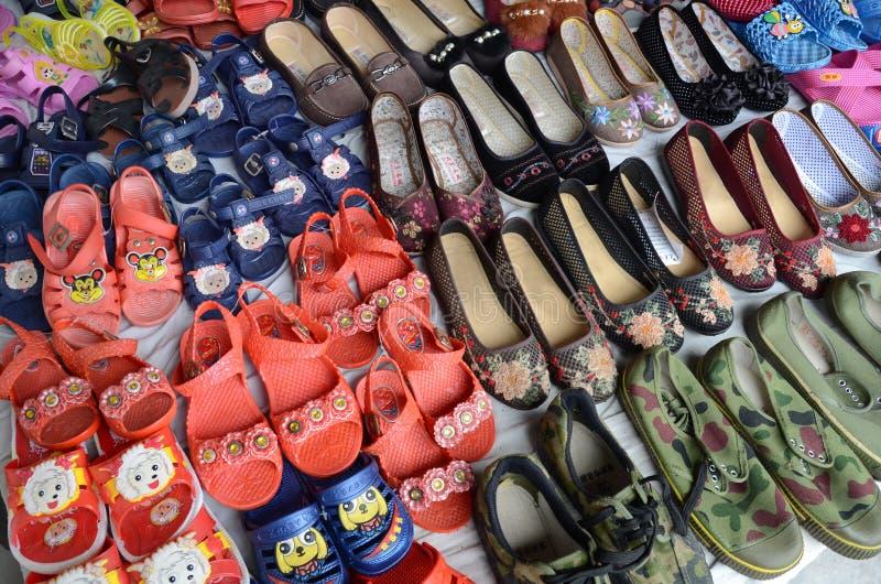 Sapatas do chinês tradicional fotografia de stock