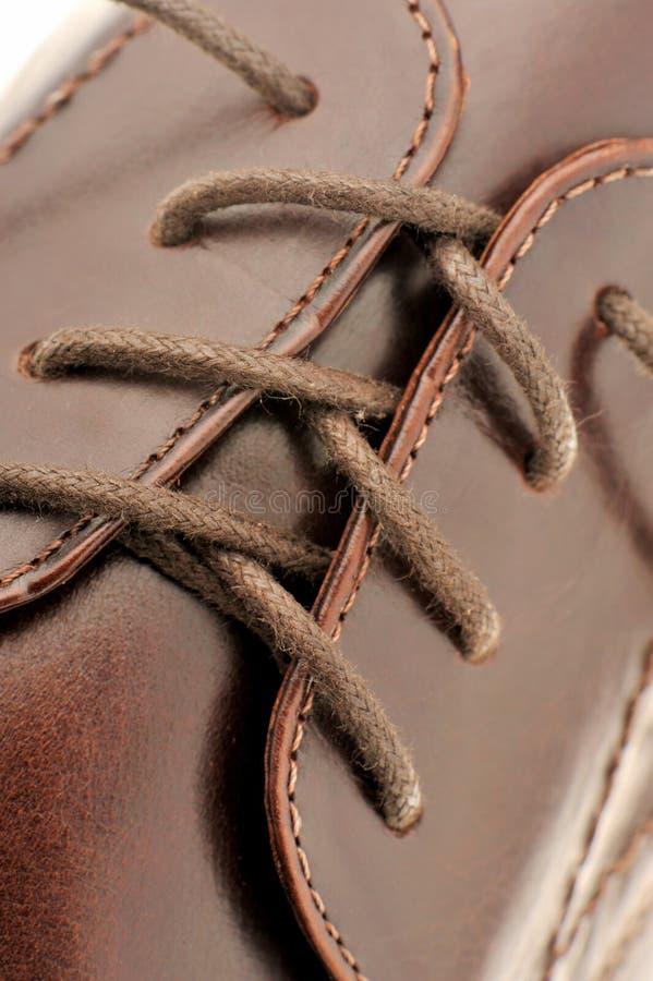 Sapatas do homem de um couro marrom fotos de stock