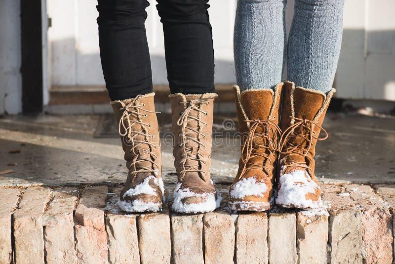 Sapatas do inverno fotografia de stock