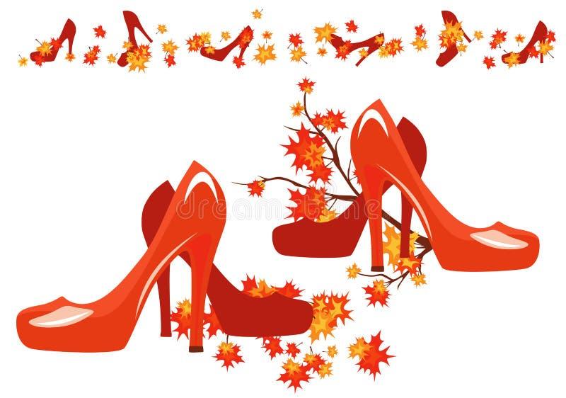Sapatas do outono ilustração stock