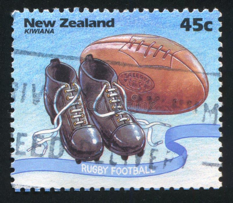 Sapatas do rugby foto de stock