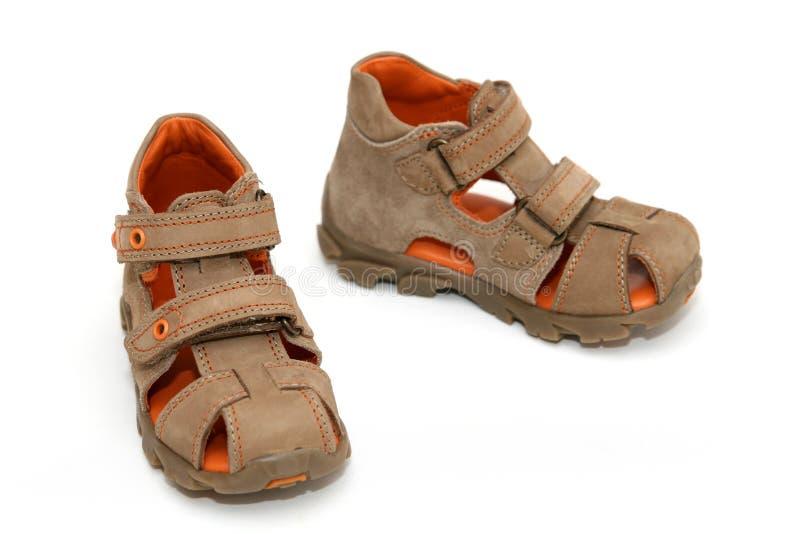 Sapatas do verão do bebê - sandálias fotografia de stock