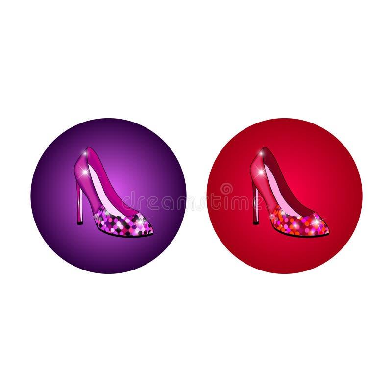 Sapatas High-heeled ilustração royalty free