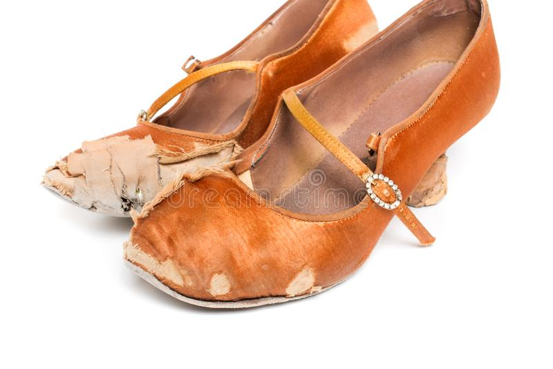 Sapatas latinos da dança de salão de baile imagem de stock