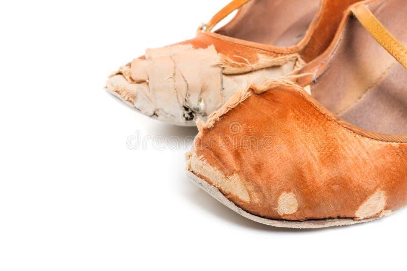 Sapatas latinos da dança de salão de baile imagens de stock