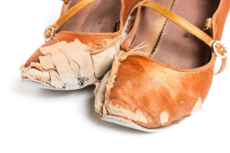Sapatas latinos da dança de salão de baile foto de stock