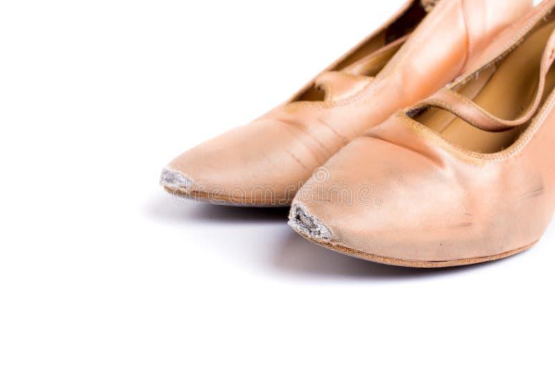 Sapatas latinos da dança de salão de baile fotos de stock