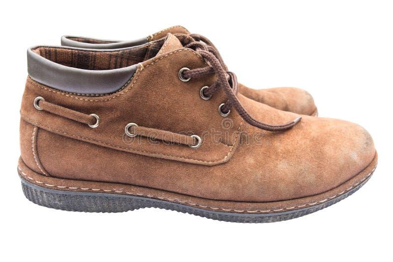 Sapatas marrons velhas imagem de stock royalty free