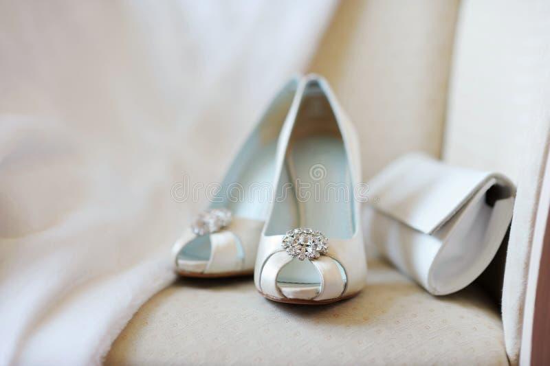 Sapatas nupciais elegantes imagem de stock royalty free