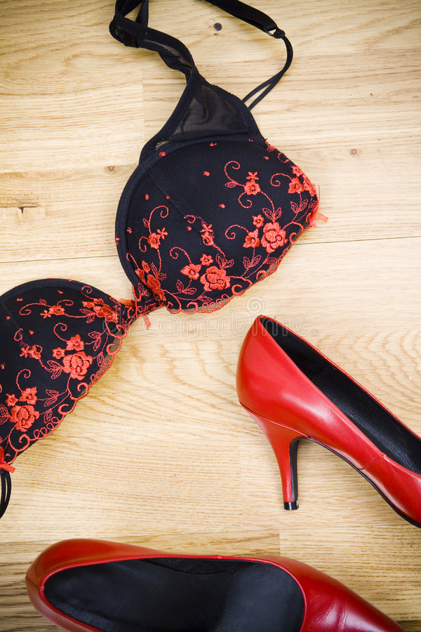 Sapatas vermelhas 'sexy' fotografia de stock royalty free