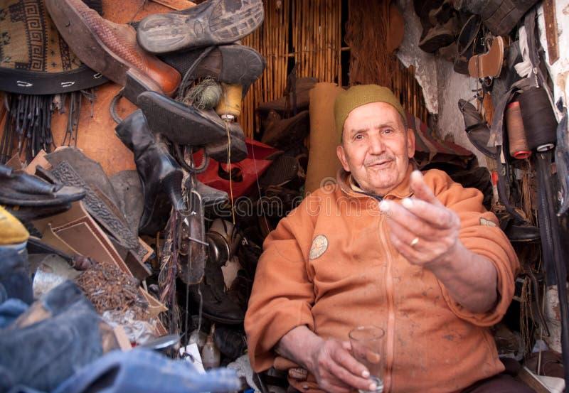 Sapateiro marroquino imagens de stock royalty free