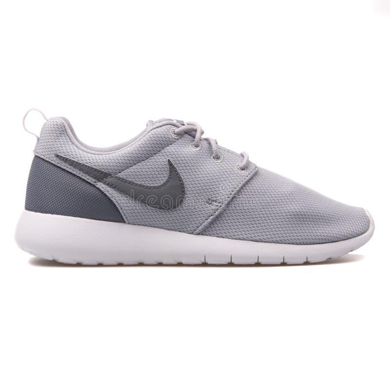 Sapatilha cinzenta de Nike Roshe One imagem de stock