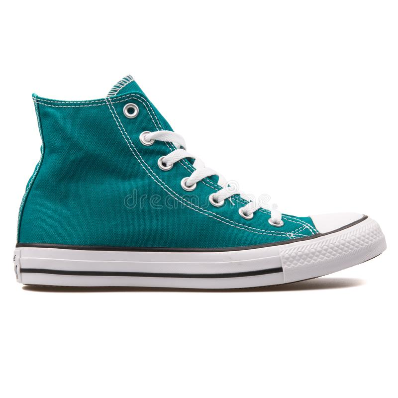 Sapatilha inversa da cerceta de Chuck Taylor All Star High Rebel foto de stock