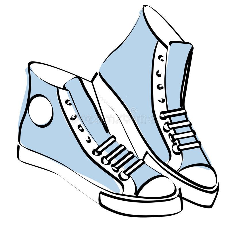 Sapatilhas ilustração do vetor