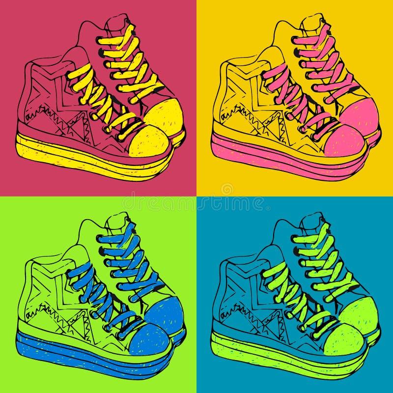 Sapatilhas coloridas imagens de stock