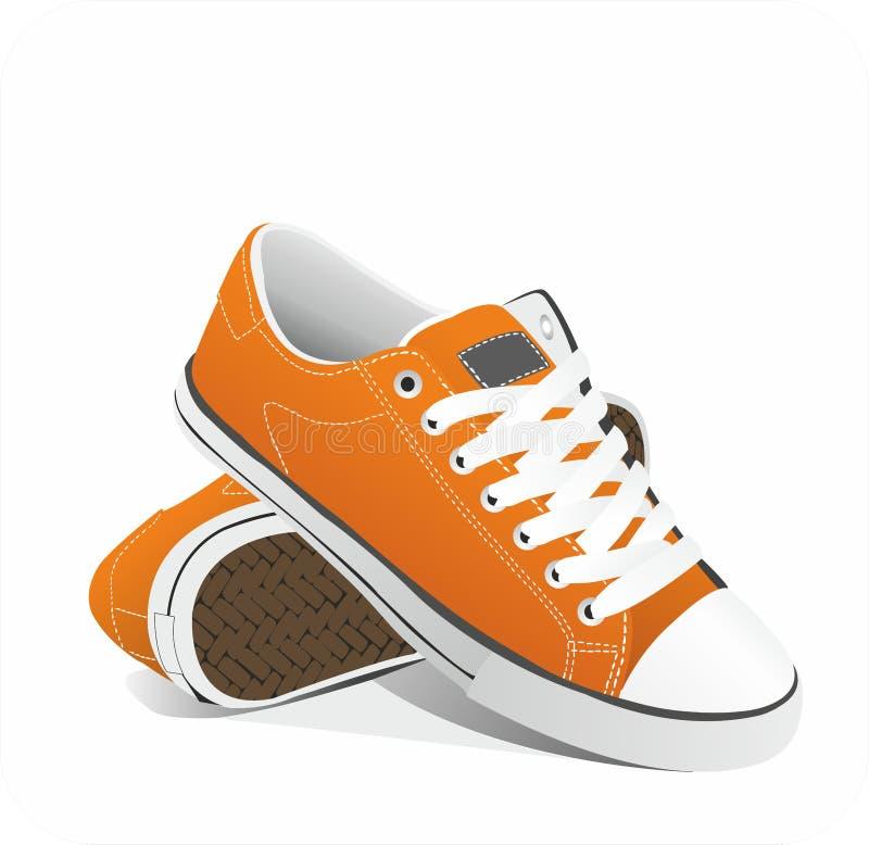 Sapatilhas da laranja do vetor ilustração royalty free