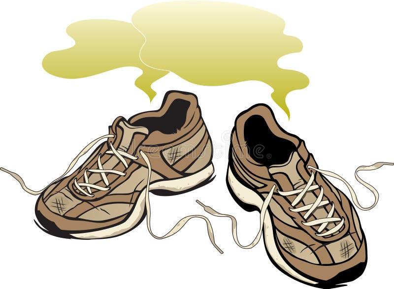 Sapatilhas Smelly ilustração stock