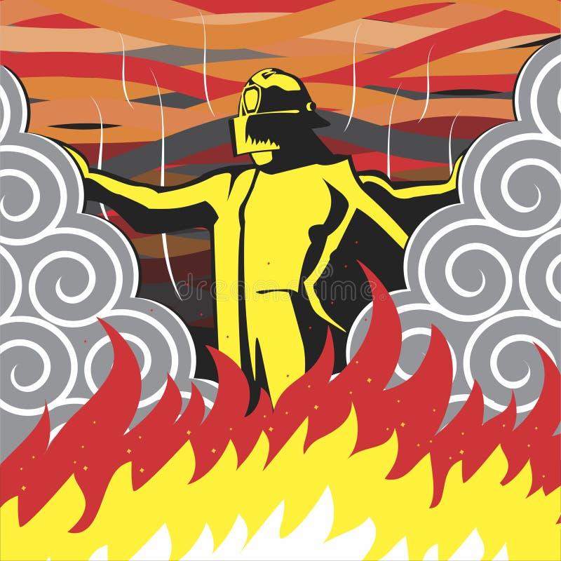 sapeur-pompier illustration de vecteur
