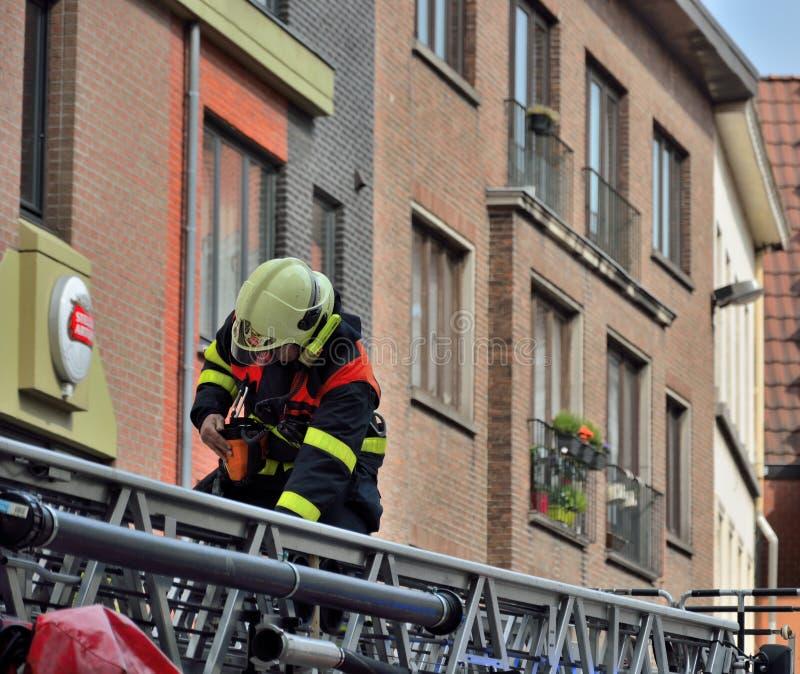 sapeur-pompier image stock