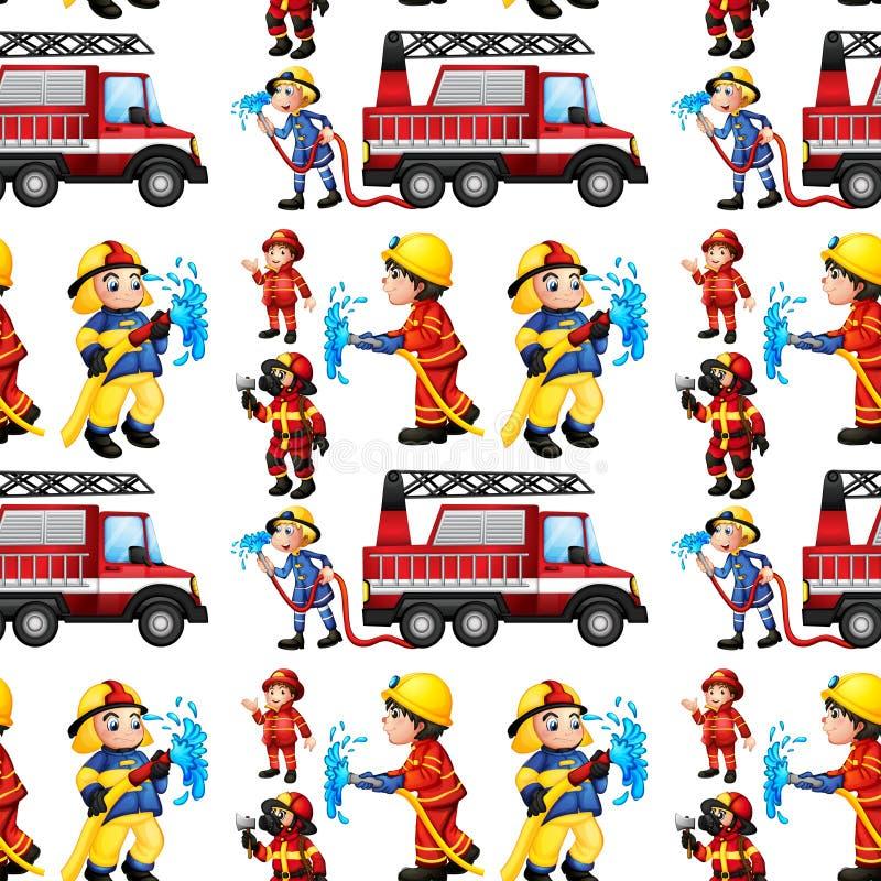 Sapeurs-pompiers sans couture illustration stock