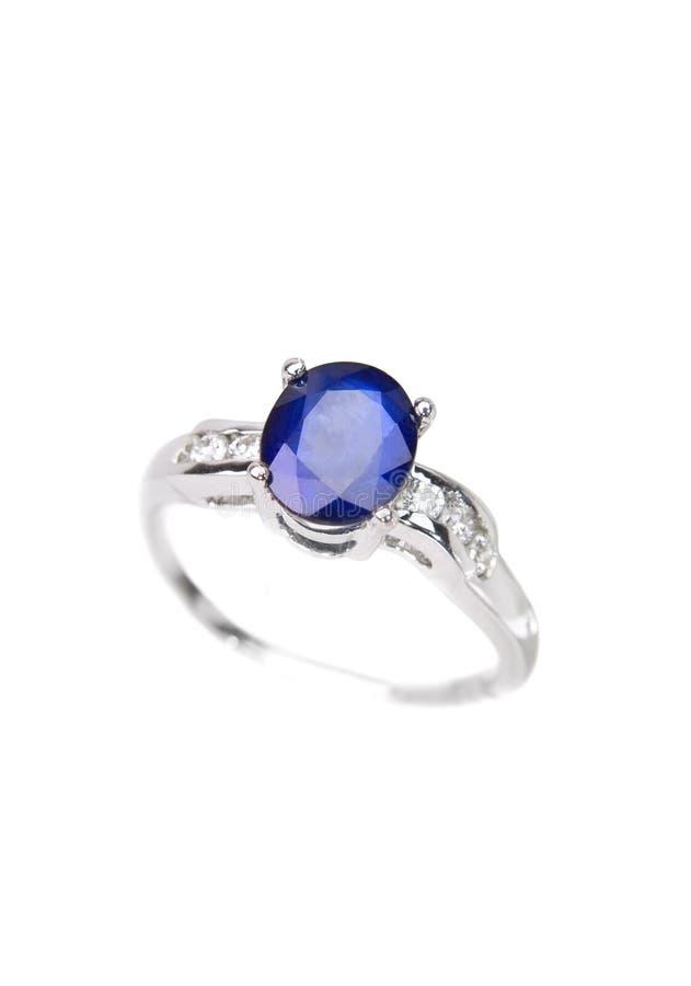 Saphir-Ring stockfotos
