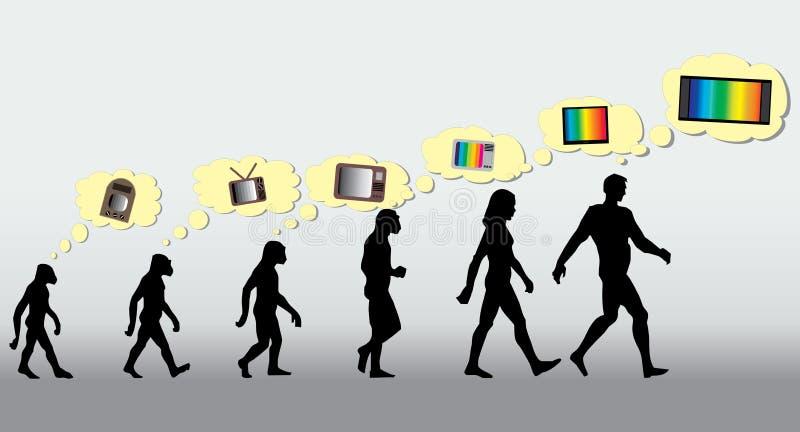 Sapiens TV di omo illustrazione vettoriale