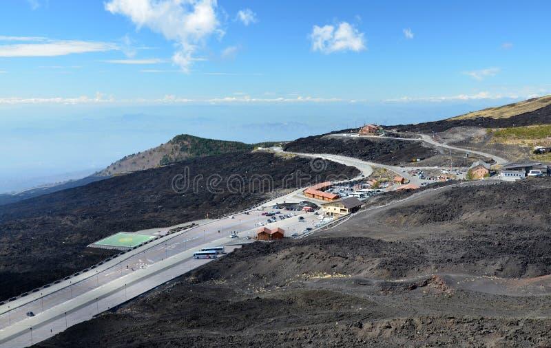 Sapienza schronienie na wulkanie Etna zdjęcia royalty free