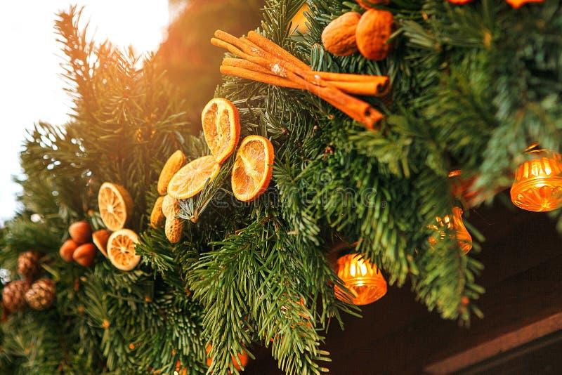 Sapin de décoration de Noël Foyer sélectif Concept de vacances image libre de droits