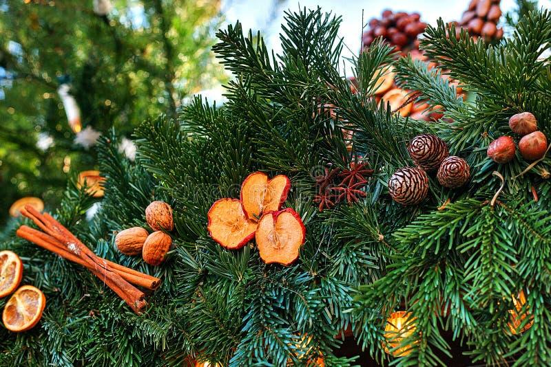 Sapin de décoration de Noël Foyer sélectif Concept de vacances photo libre de droits