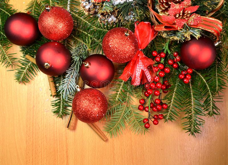 Sapins de fond de chrismas de Noël image libre de droits
