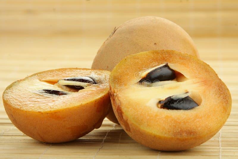 Sapodilla φρούτα στοκ εικόνες