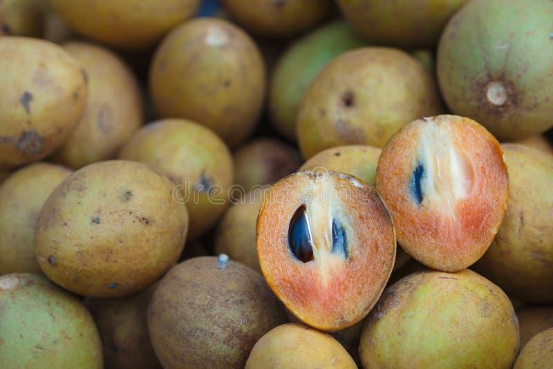 Sapodilla owoc Tajlandzki słodki aromat fotografia royalty free
