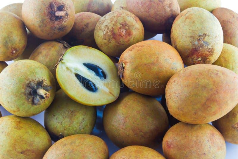 Sapodillafruit royalty-vrije stock foto's
