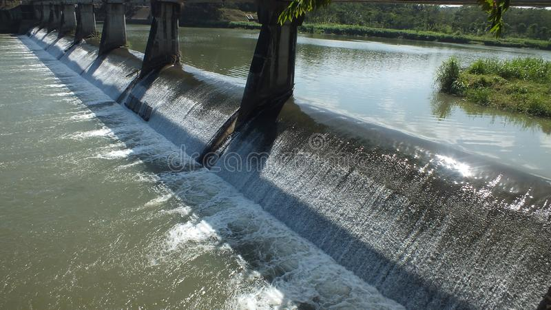 Sapon de barrage, Java Indonesia central photographie stock