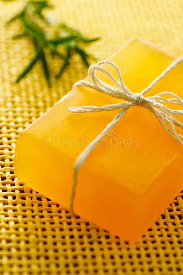 Sapone Handmade con rosmarino immagine stock