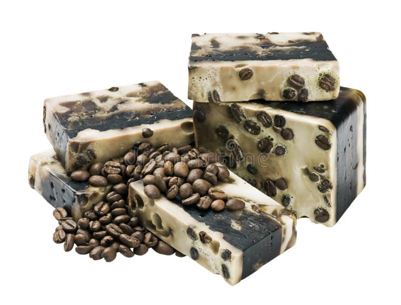Sapone handmade del caffè immagini stock