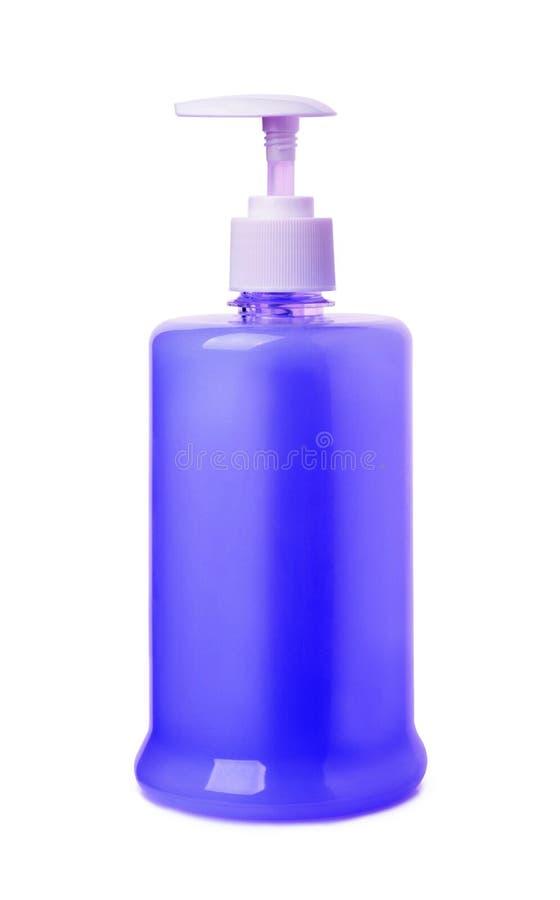sapone liquido blu fotografia stock