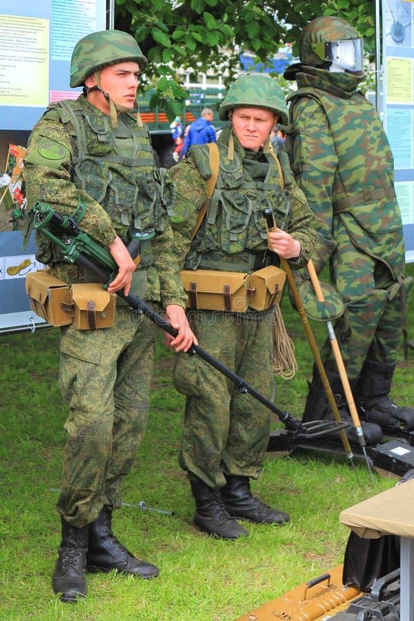 Sappers nos regimentals imagem de stock